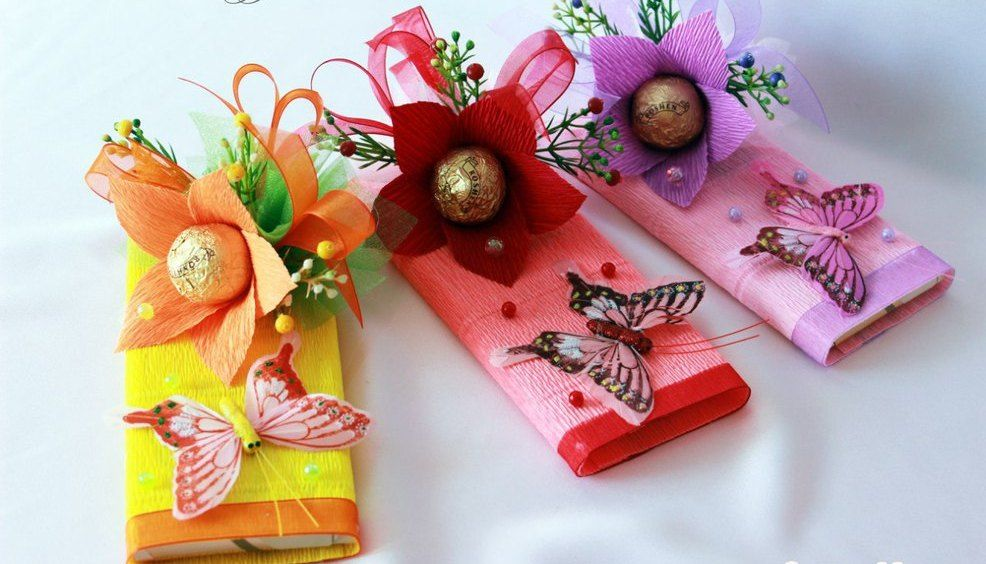 Метенкова, открытка своими руками с конфетой