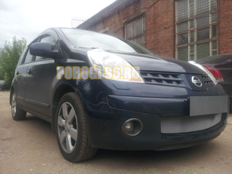 Защита радиатора Nissan Note 2005-2008 chrome