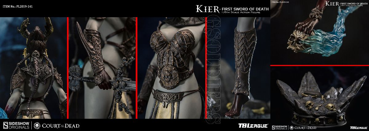 TBLeague x Sideshow PL2019-141 1//6 Scale Kier-First Sword of Death Head Sculpt