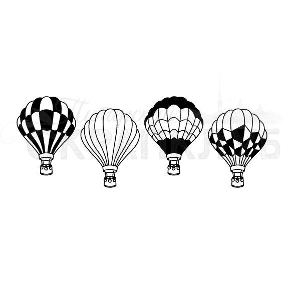 Штамп для скрапбукинга  воздушный шар с риснуками на шаре для раскрашивания
