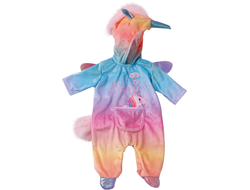 Zapf BABY born 828-205 Cuddly Suit Unicorn