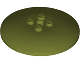 Dish 6 x 6 Inverted (Radar) - Solid Studs, Olive Green (44375b / 6221610)