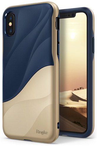 Чехол на Apple iPhone X, Ringke серия Wave, цвет синий (Coastal Blue)