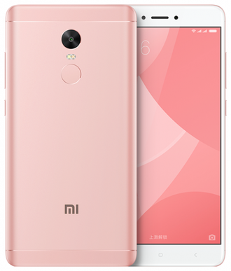 Смартфон Xiaomi Redmi Note 4X 32Gb Rose (розовый)