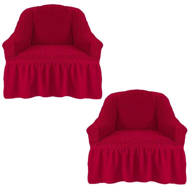 Чехлы на 2 кресла, Бордовый 221