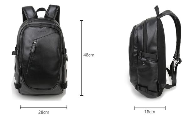 9acabe0b24da Молодежный рюкзак мужской. Материал: высококачественная экокожа, цвет:  Черный. Сегодня у парней очень популярны сумки через плечо или рюкзаки.  Молодежные ...