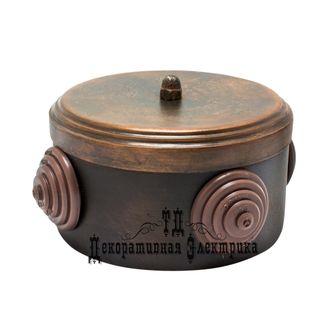 Распределительная коробка, цвет: патинированная медь