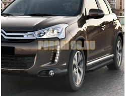 Пороги на Citroёn C4-AirCross (2012-…) Black