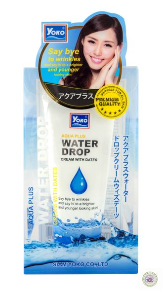 Крем с каплями воды Yoko  Aqua Plus Water Drop Cream with dates.  50 г