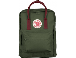 Рюкзак Fjallraven Kanken Forest Green Ox Red (No.2)