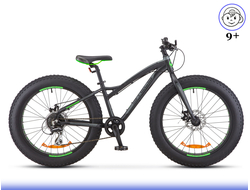 "Stels Aggressor D 24"" Fat Bike (Черный) Kiddy-Bikes"