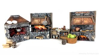 Medieval kitchen (PAINTED)