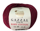 Gazzal baby cotton 3442 винный