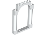 Door, Frame 1 x 6 x 7 Rounded Pillars with Top Arch and Notches, White (40066 / 6249033)