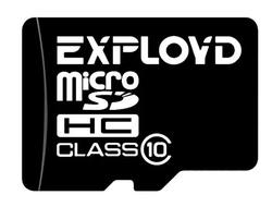 Карта памяти EXPLOYD microSDHC Class 10 16GB + SD adapter