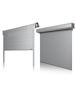 Алюминиевые ворота рулонные - автоматические промышленные конструкции для склада и производственных