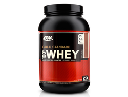 (Optimum Nutrition) 100% Whey Gold Standard - (908 гр.) - (шоколад)