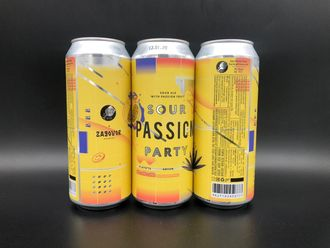 Sour Passion Party Sour - Fruited Кислая Вечеринка Страсти Кислый Эль с Маракуйей 6% IBU 10 0,5л (180) Stamm Brewing в банке