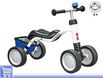 Беговел-каталка Puky Wutsch white/blue Kiddy-bikes