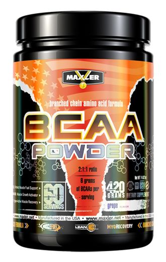 (Maxler) BCAA Powder   (420 гр) - (виноград)