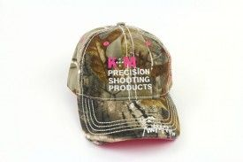 K&M Logo Hat - Washed Camo Twill with Pink Accents, бейсболка