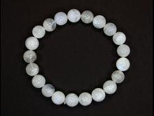 Браслет Лунный камень, Адуляр, группа Полевые шпаты, шар 8-9 мм (размер браслета 16 см, вес 22 г) №15180