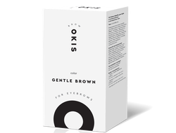 Крем-краска для бровей GENTLE BROWN с окислителем с экстрактом хны OKIS BROW