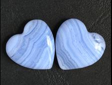 Сердце Агат голубой (сапфирин) в ассортименте, Намибия (20*20*7, 4 г) №9385
