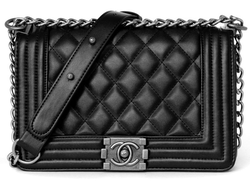 Сумка Chanel Boy Quilted Lambskin Flap Bag Black Silver