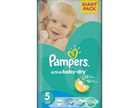 Подгузники Pampers Active Baby-Dry Junior 5, 11-18 кг 64 шт.