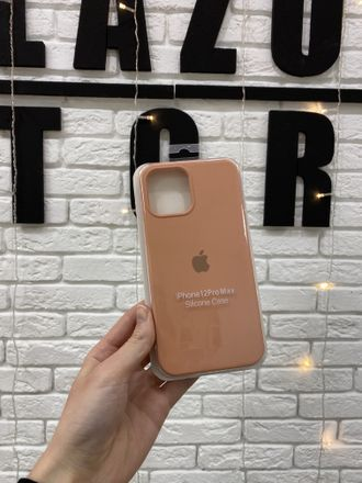 ЧЕХОЛ APPLE SILICONE CASE ДЛЯ IPHONE 12 PRO MAX персиковый