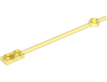 Bar  12L with 1 x 2 Plate End Hollow Studs and 1 x 1 Round Plate End, Trans-Yellow (99784 / 6121435)