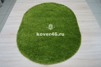КОВЕР SHAGGY XXX 10013 GREEN / 1.2*1.7 М OVAL