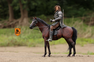 Черный конь - Коллекционная фигурка 1/6 Scale German Hanoverian Warmblood Horse Statue - Real Animal Series (No.17) - Mr.Z