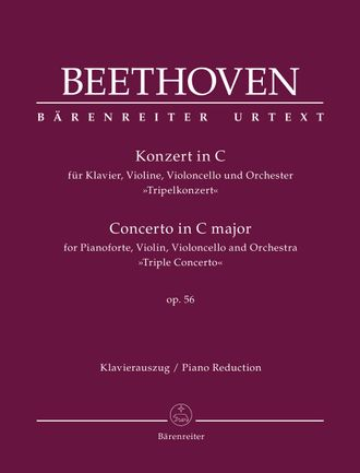 "Beethoven, Concerto for Pianoforte, Violin, Violoncello and Orchestra C major op. 56 ""Triple Concerto"""