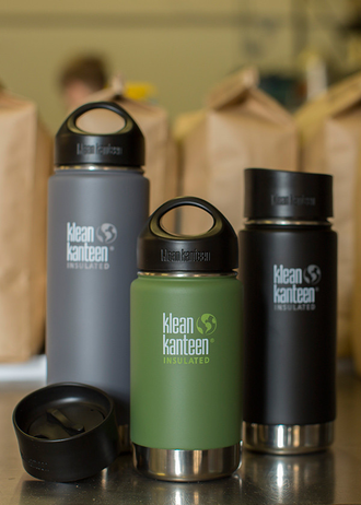 Термобутылка Klean Kanteen Insulated Wide 16oz (473 мл) Shale Black матовая