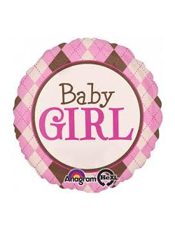 "круг baby girl (anagram) в клетку 32"" 81 см"