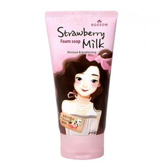 Пенка для умывания Mukunghwa Rossom Strawberry Milk Foam Soap