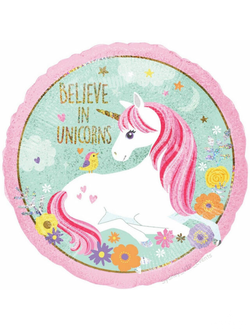 "Круг Believe in unicorns 18""/46см"