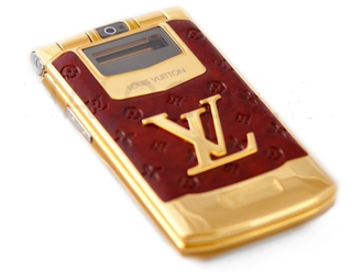 Louis Vuitton LV-8 Gold женский телефон раскладушка