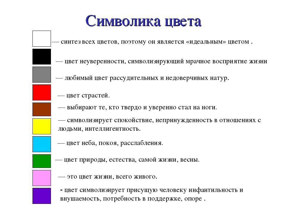 цвет в картинках и символах уже