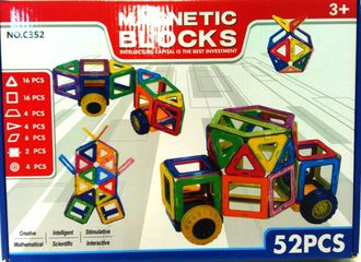 Магнитный конструкто magnetic blocks 52 детали