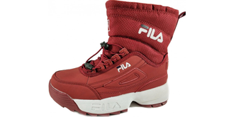 Дутики FILA FLEECE Red с мехом
