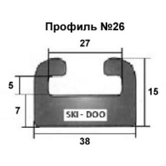 Склиза графитовая SPI 428-56-99 профиль: 26 (28) (142 см) для снегоходов BRP LYNX/Ski-Doo EXPEDITION, RENEGADE, GRAND TOURING, SUMMIT, MXZ,  FREERIDE, GSX, SKANDIC, 69 YETI, Adventure GT, Xtrim Commander