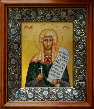 Образ Святой мученицы Софии (Софьи) Римской.  Формат иконы: 13х16см.