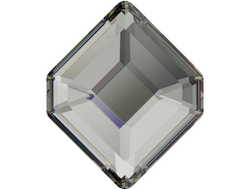 Мягкий квадрат Swarovski 5,0X 4,2 мм BLACK DIAMOND - 4 шт