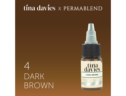 "Permablend ""Tina Davies 'I Love INK' 4 Dark Brown"" 15 мл"