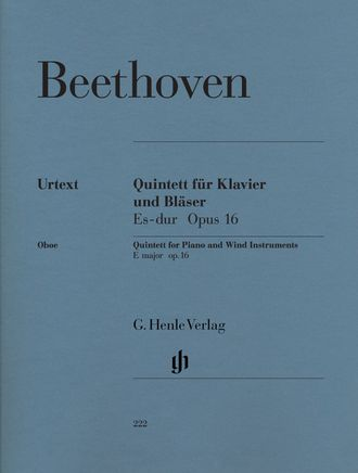 Beethoven Quintet E flat major op. 16 for Piano, Oboe, Clarinet, Horn and Bassoon