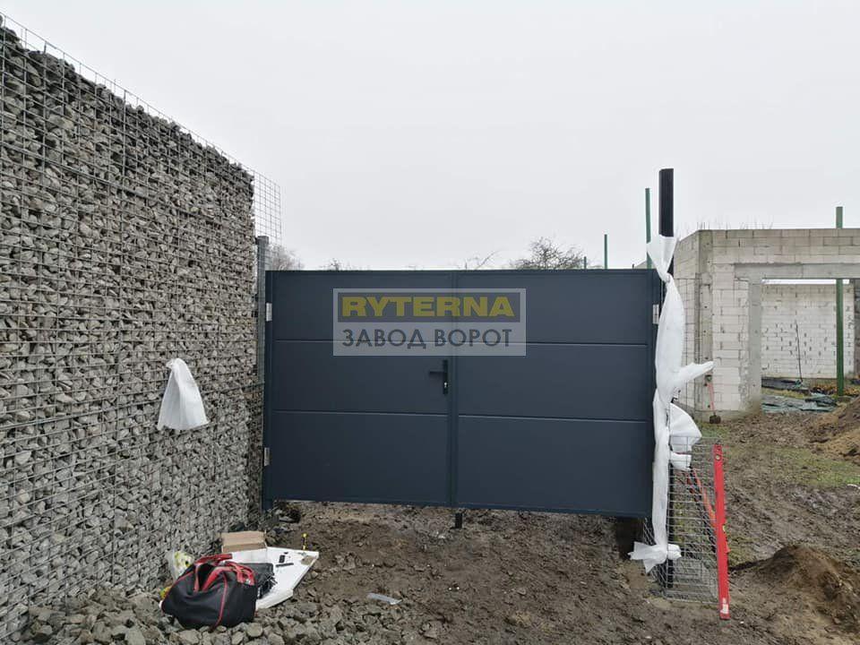 распашные ворота - оцинкованная сталь - монтаж - гарантия - киев