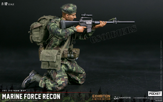 Американский морской пехотинец во Вьтенаме 1/12 scale Marine Force Recon in Vietnam PES009 DAMTOYS